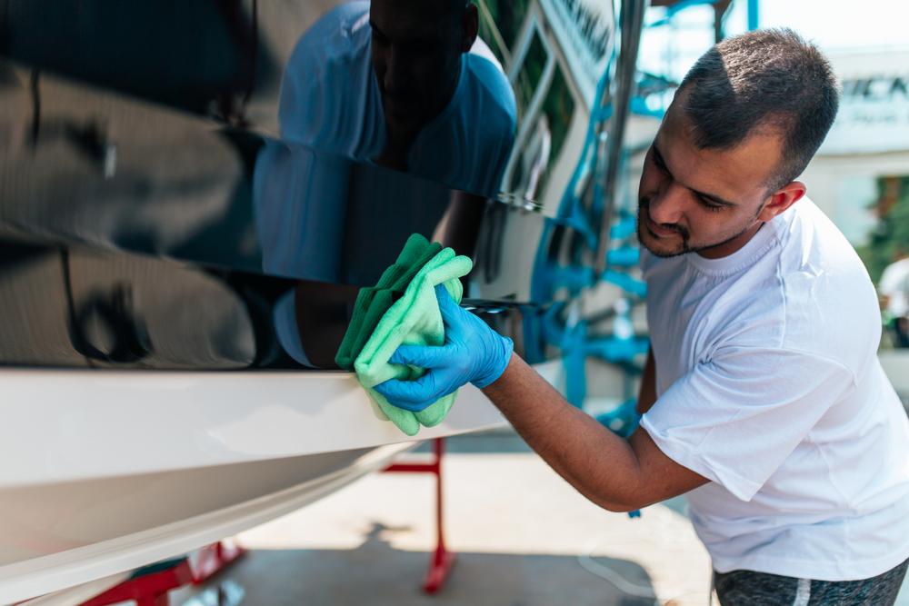 pulire barca