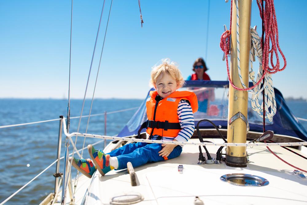 barca con bambini